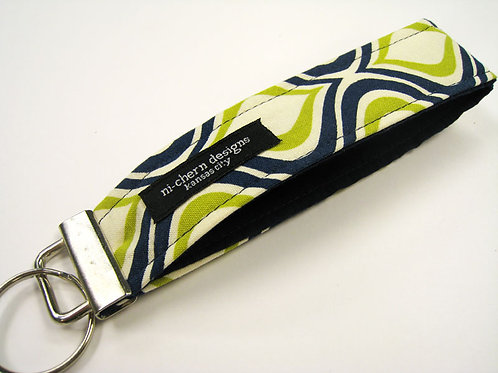 Navy Green Swirls - Regular