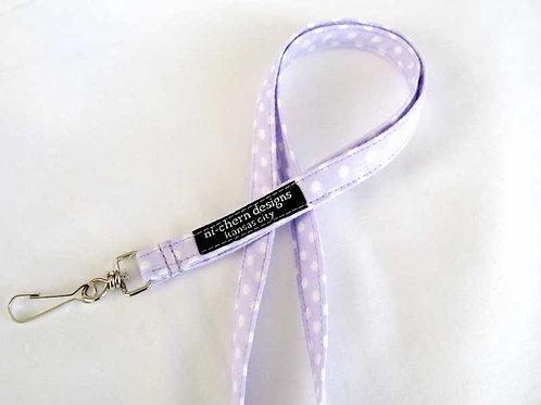 Lavender White Polka Dots - SL