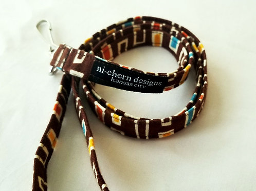 Retro Rectangles on Brown - LL