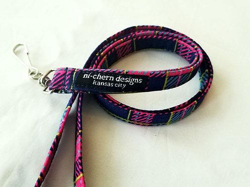 Plaid Pink Navy Blue - LL