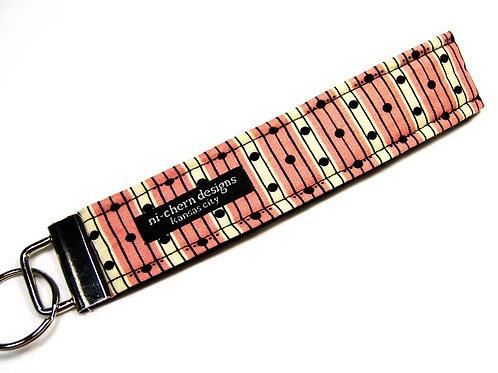 Black Line Dots on Pink Stripes - Regular