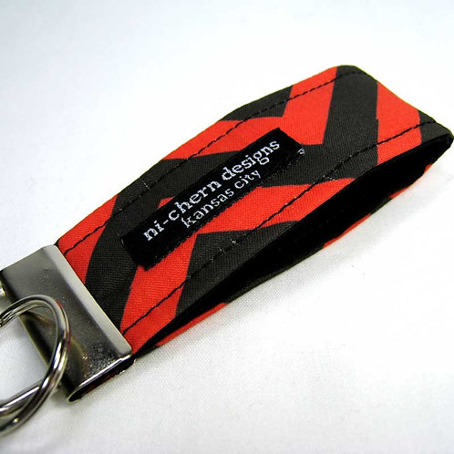 Black Red Chevron - mini