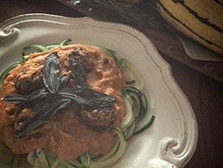Autumnal Pasta Sauce with Sage Leaves