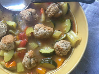 Italian Turkey Meatball & Vegetable Soup