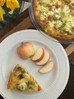 Asparagus Leek Quiche with Butternut Squash Crust