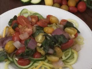 "Zucchini and Summer Squash ""Pasta"""