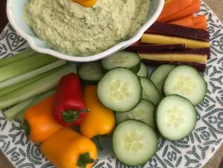Roasted Zucchini and Artichoke Hummus
