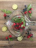 Raspberry Blueberry Basil Lime Infused Water