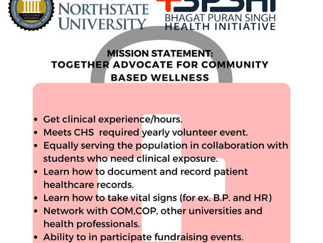 New Club: Bhagat Puran Sign Health Initiative. Sign Up Now for Medical Experience Opportunities!
