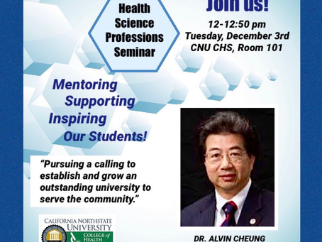 Dr. Alvin Cheung Guest Lecture 12/3 in Room 101!