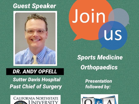 On 2/11, CHS Will Host Dr. Andy Opfell As a Guest Speaker!