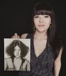 with my portrait of Mitzi Shore