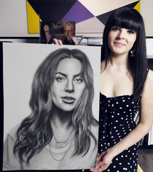 with my portrait of Lady Gaga