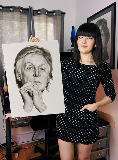 with my portrait of Paul McCartney