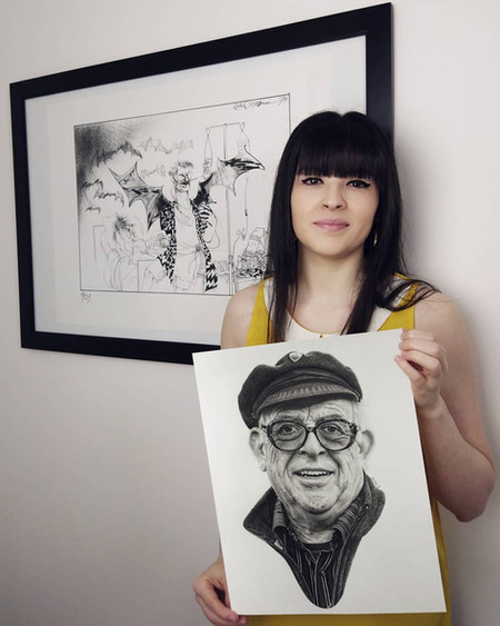 with my portrait of Ralph Steadman