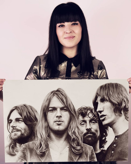 with my portrait of Pink Floyd
