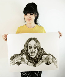with my portrait of Ozzy Osbourne