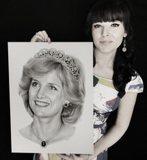 with my portrait of Princess Diana