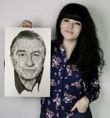 with my drawing of Robert De Niro