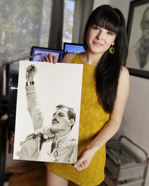 with my portrait of Freddie Mercury
