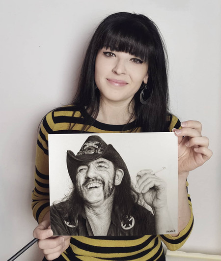 with my portrait of Lemmy