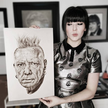 with my portrait of John Lydon