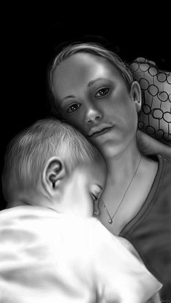 Wife/Son portrait