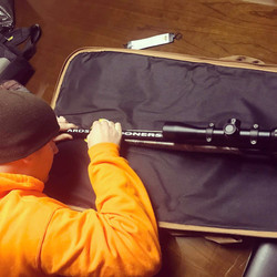 Installing decal on a muzzle loader