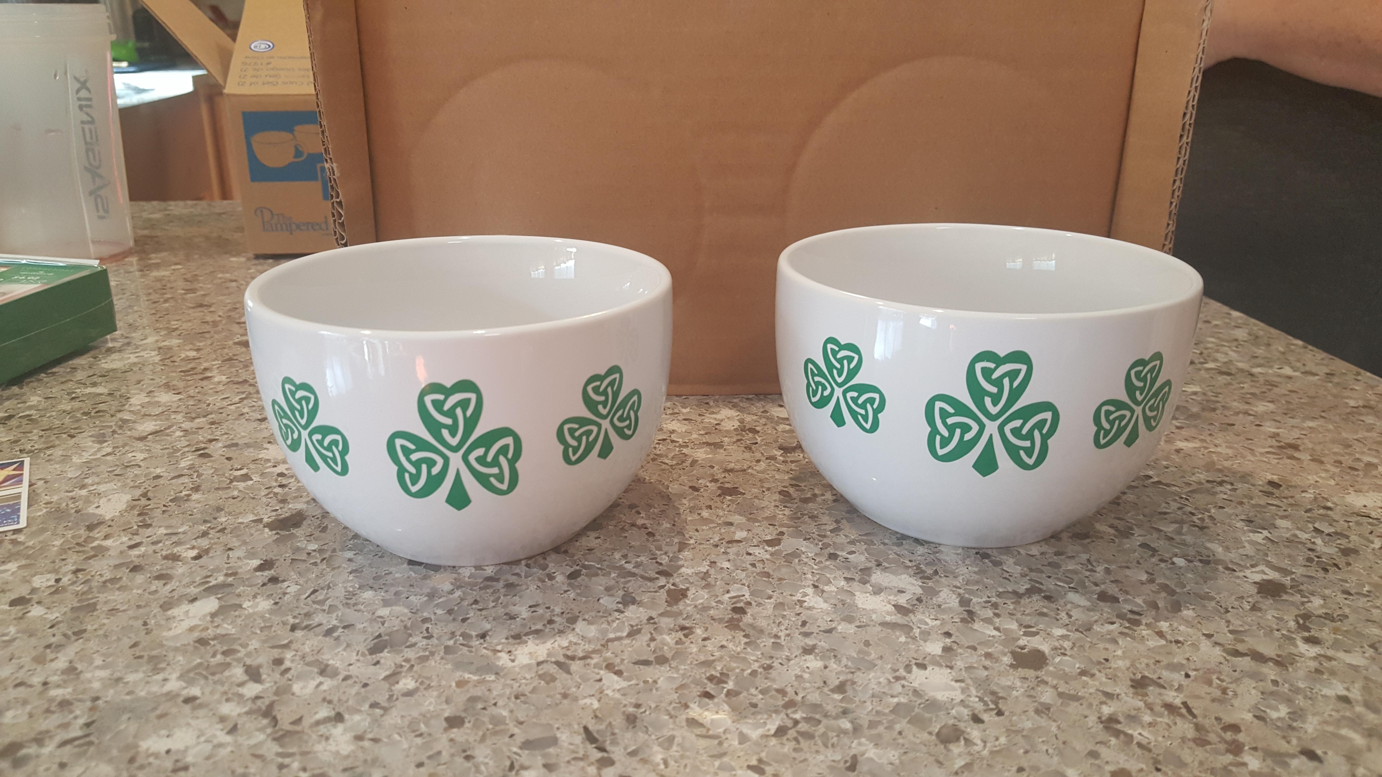 Shamrock cups