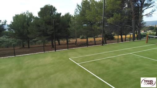 Survol pour le contructeur de terrain de Tennis | Tennis du Midi | Le Castellet