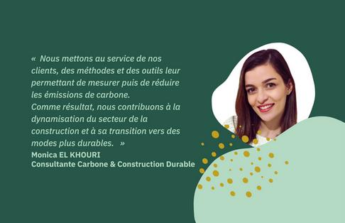 [Portrait] Monica EL KHOURI, Consultante en Carbone et Construction Durable