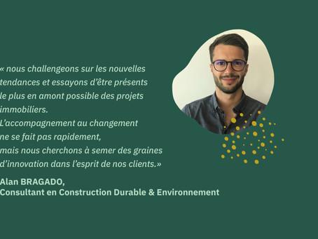 [Portrait] Alan BRAGADO, consultant en Construction Durable et Environnement