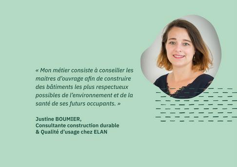 [Portrait] Justine BOUMIER, consultante construction durable et qualité d'usage