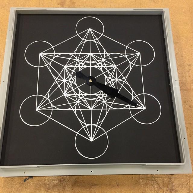 #metatronscube #vinylsticker _#clock face _#sacredgeometry yo!_#auxsmade