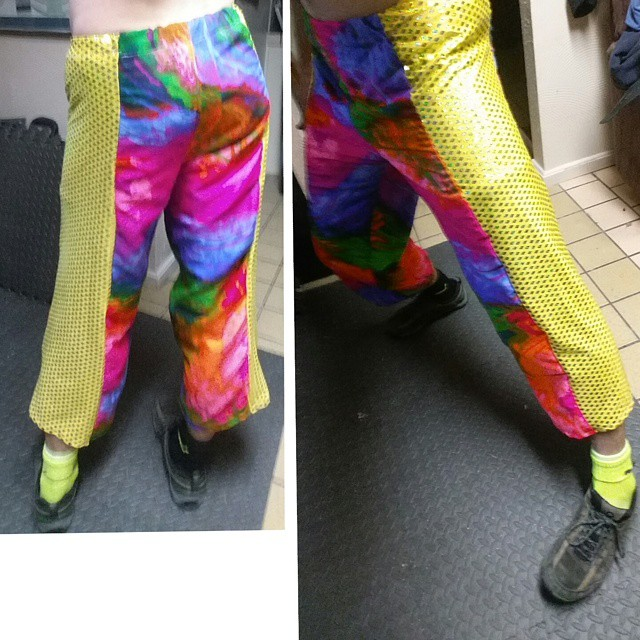 #sewing noob seamster here, first ever wearable! yeee! #sparkles #colors #techno #dance #drumnbass #
