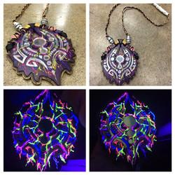 another #phutureprimitive pendant _P more #mirroredacrylic #lasercut of course