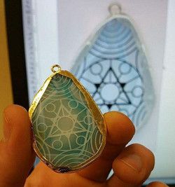 for the awesomely talented _ethy787 !_some third eye opening #sacredgeometry #laseretched #goldplate