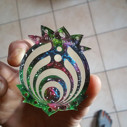 #bassnectar #lasercut #laseretched pendant #galaxies #acrylicpaint oh hey there #vibram #fivefingers