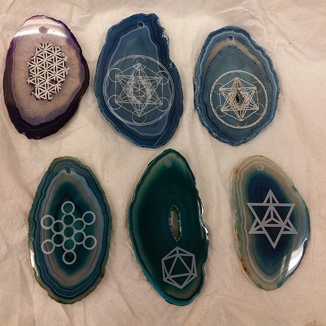 some more #laseretched #agates_xmas presents _#sacredgeometry #odesza__a _cosmicbranches_ original_#