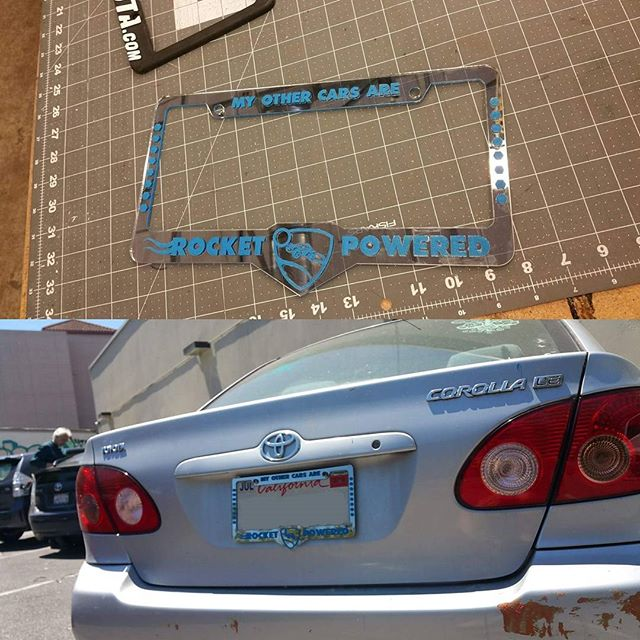 #rocketleague #licenseplateholder #prototype #lasercut #laseretched _rocketleague_My Other Cars Are