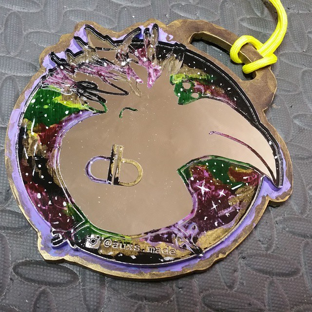 #dirtybird _dirtybirdrecords big DB for _therealhamburger purple N gold! _#pendants #laseretched #la