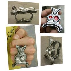 #basshead #bassface #CNCmilling #welding #TIGwelding #powdercoat #ring #twofingerring__8(_#auxsmade
