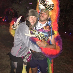 _thedolab #libfestival #rainbow #rainbowfur #sloth #coat #furcoat it came together just in time, nee