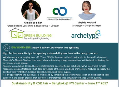 Green Building Consulting & Engineering was a guest speaker with Archetype at Bangkok's Firs