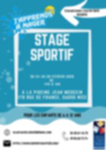 Flyer stage sportif Nice 24 au 28 Févrie