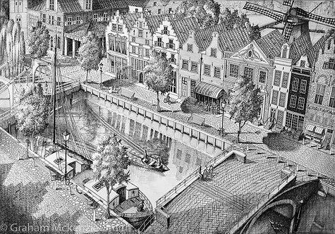 A Typical Dutch Village.