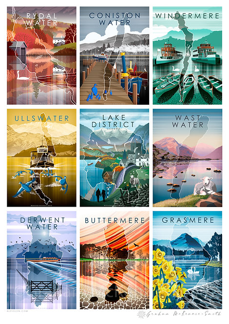 All Lakes on 1 Print