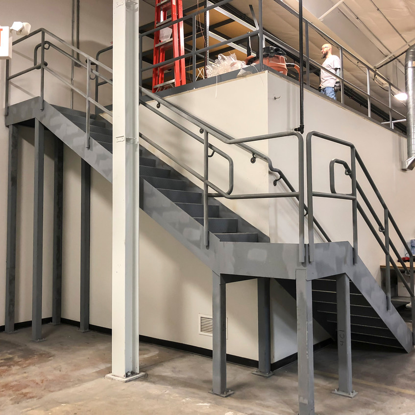 Stairs to the new mezzanine