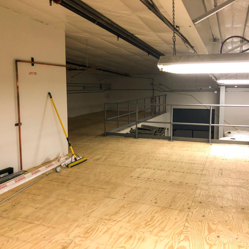 New mezzanine in progress
