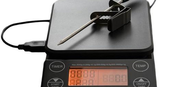 Tiamo DIgital Coffee Scale with Timer and Thermometer